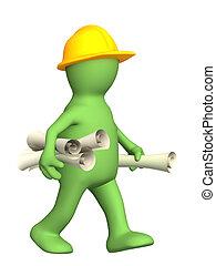 construtor, rolos, 3d