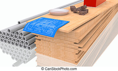 construya, materiales