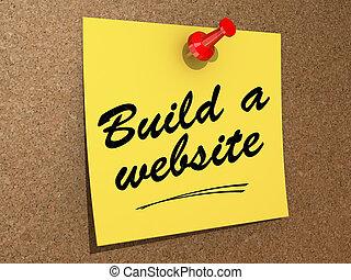 construya, un, sitio web