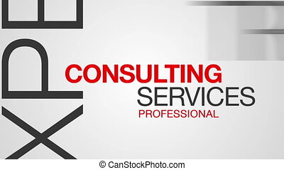 consultant, animation, mot, nuage