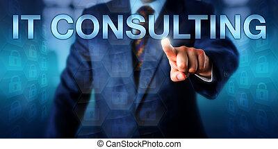 consultant, business, onscreen, il, directeur, urgent