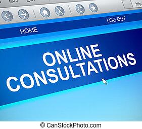 consultant, concept., ligne