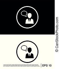 Consultant, customer service, customer support, help icon