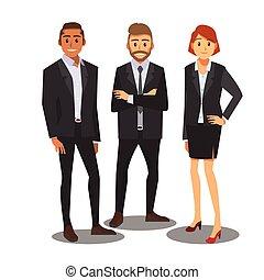 consultant, hommes affaires