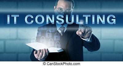 consultant, il, projet, directeur, urgent, mâle