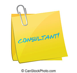 consultant post illustration design over a white background