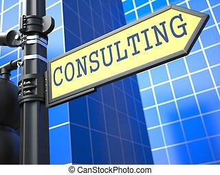 consultant, roadsign., jaune