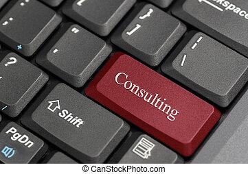 consultant, sur, keyborad
