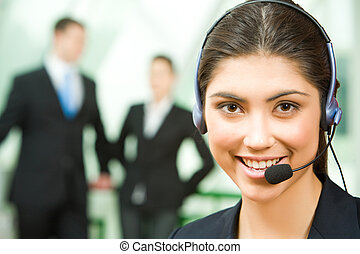 Consultant with headset