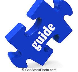 consultar, mostrando, quebra-cabeça, guideline, guiar, guia...