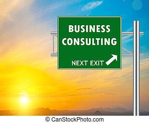 consultar, negócio verde, sinal estrada