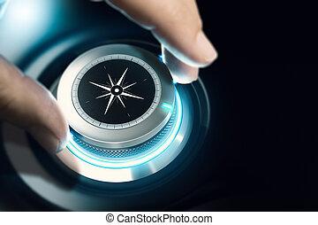 consultar, orientação, conceito negócio, carreira, profissional, ou, visão