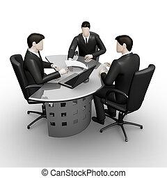 consultatie, van, tafel