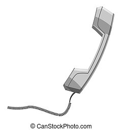 Consultation by phone icon, gray monochrome style