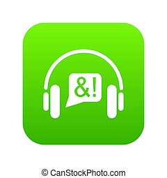 Consultation by phone icon green
