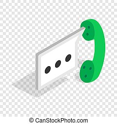 Consultation by phone isometric icon