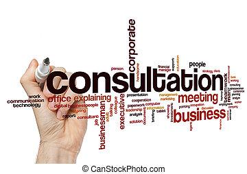 consultation, mot, nuage