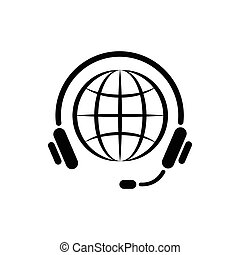 Consultation worldwide icon, simple style
