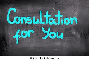 consultazione, lei, concetto