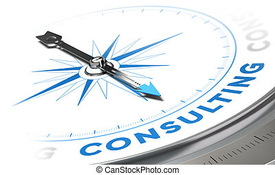 Consulting - Business consulting concept image, Compass with...