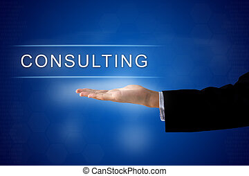 consulting button on virtual screen