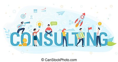 Consulting concept illustration. Idea of business