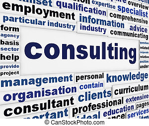 Consulting creative message concept. Consultancy ...