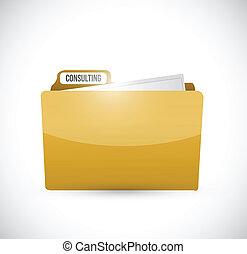 consulting folder illustration design