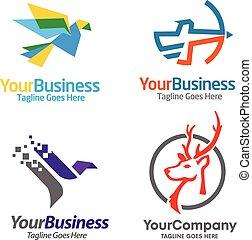 consulting logo vector set