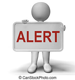 consultivo, aviso, alarma, significado, muestra de la precaución, o