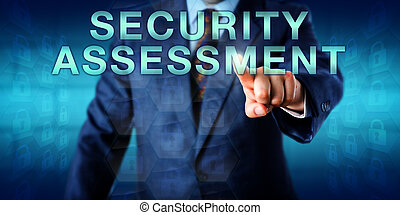 consultor, seguridad, conmovedor, tasación, onscreen