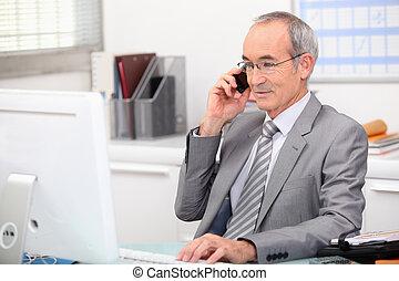 consultor, telefone negócio