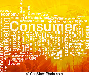 Consumer background concept - Background concept wordcloud...