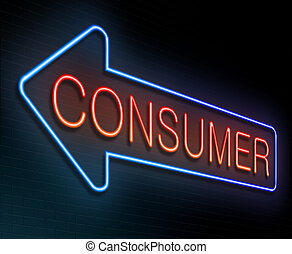 Consumer concept. - Illustration depicting an illuminated ...