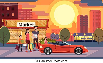 Consumer Credit for Family Flat Vector Concept