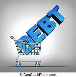 Consumer Debt - Consumer debt financial concept as a...