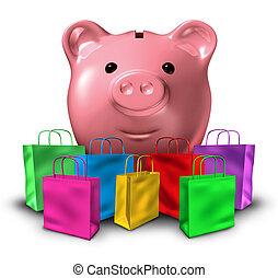 Consumer Debt - Consumer debt shopping and budget spending...