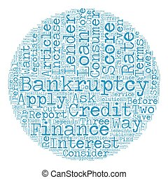 Consumer Loan After Bankruptcy These Steps Could Help text background wordcloud concept