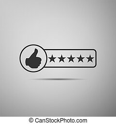 Consumer or customer product rating icon isolated on grey background. Flat design. Vector Illustration