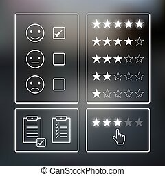 Consumer rating icons