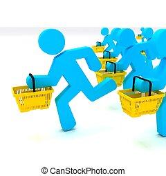 Consumer - Customer, Symbolizing the Targeting of Consumers...