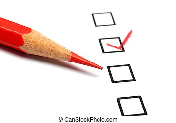 consumer survey with questionnaire checkbox to improve sales