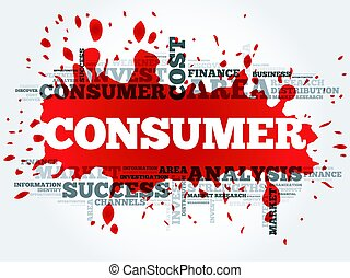 Consumer word cloud, business concept