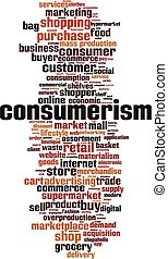 Consumerism word cloud concept. Collage made of words about ...