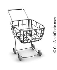 Consumer's basket. 3d