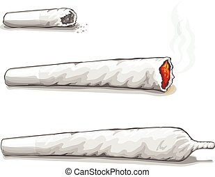 consumo, drogas, spliff., droga marijuana, conjunto, fumar,...