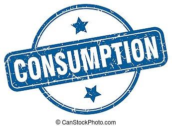 consumption grunge stamp. consumption round vintage stamp