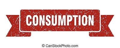 consumption grunge vintage retro band. consumption ribbon - ...
