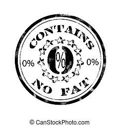 contém, gorda, não