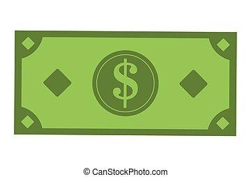 conta, dólar, ícone